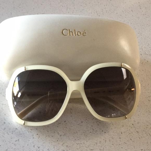 fd3cda6a2066 Chloe Accessories - White frame sunglasses
